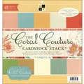 Diecuts With A View Coral Couture Solid Cardstock Stack 12in.X12in.-48 Sheets