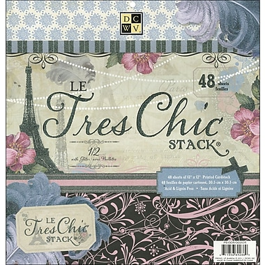 Diecuts With A View Le Tres Chic Paper Stack 12in.X12in.-48 Sheets