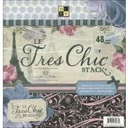 "Diecuts With A View Le Tres Chic Paper Stack 12""X12""-48 Sheets"