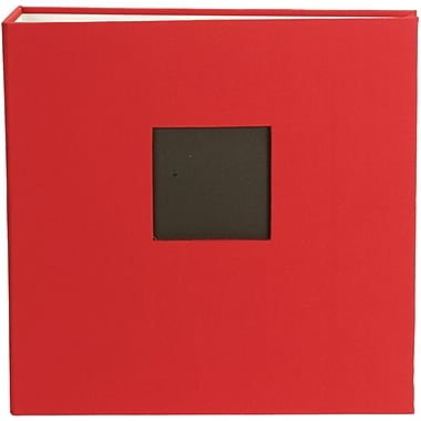 American Crafts Cloth D, Ring Album, 8.5in. x 11in., Cardinal