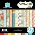 Bazzill Wayfarer Multi-Pack 12in.X12in. 22 Sheets-6 Designs/2 Each + 10 Cardstock Sheets