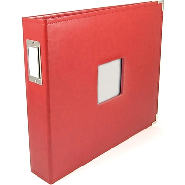 We R Memory Keepers We R Classic Leather Window 3-Ring Binder 12in. x 12in. Albums