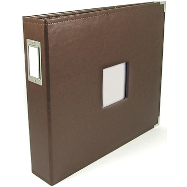 We R Memory Keepers We R Classic Leather Window 3-Ring Binder 12in. x 12in. Album, Dark Chocolate