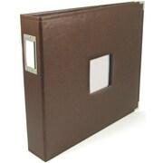 We R Memory Keepers We R Classic Leather Window 3-Ring Binder 12 x 12 Album, Dark Chocolate