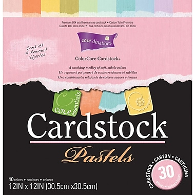 Darice Core Essentials Cardstock, 12in. x 12in., Pastels