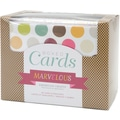 American Crafts Box Of Patterned Cards With Envelopes 4in.X6in. 40/Pkg-Assorted 10 Designs/4 Each