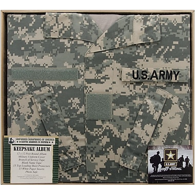 Uniformed Scrapbooks U.S. Army Keepsake Post Bound Album, 12in. x 12in., ACU Camo