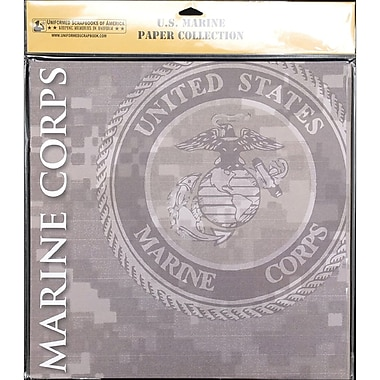 Uniformed Scrapbooks U.S. Marine Scrapbook Paper Pack 20/Pkg 12in. x 12in.