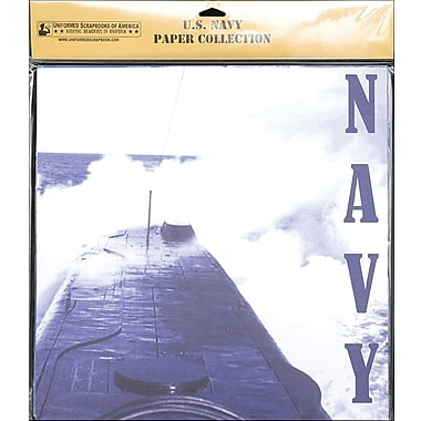 Uniformed Scrapbooks U.S. Navy Scrapbook Paper Pack 20/Pkg 12in. x 12in.-Assorted Prints