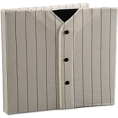 Uniformed Scrapbooks Baseball Keepsake Post Bound Album, 12in. x 12in., White/Black