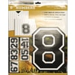 Uniformed Scrapbooks Iron On Numbers 8in., Black