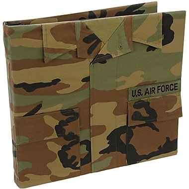 Uniformed Scrapbooks U.S. Air Force Battle Dress Uniform Keepsake Album, 12in. x 12in., Woodland Camo