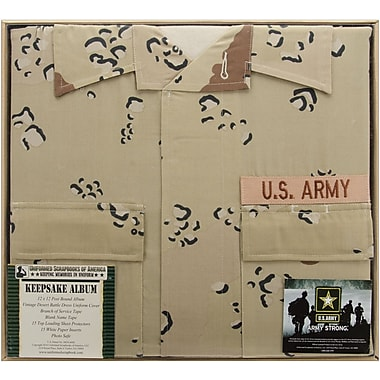 Uniformed Scrapbooks U.S. Army Desert Battle Dress Uniform Keepsake Album, 12in. x 12in., 6 Color Desert