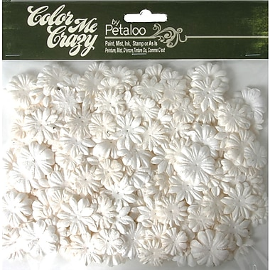 Petaloo Color Me Crazy Flowers, 360/Pkg, Mini Layers