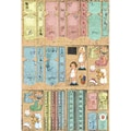 Fabscraps Victoria Die-Cuts 8in. x 4in. Pad 60 Sheets-Tags/Tickets/Paper Dolls/Borders