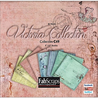 Fabscraps Victoria Mini Paper Collection 8in. x 8in. Booklet-80 Single-Sided Sheets