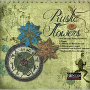 Fabscraps Rustic Paper Flowers Die-Cut Pad 8 x 8, Makes 120 Flowers
