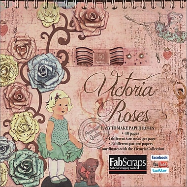 Fabscraps Victoria Paper Flowers Die-Cut Pad 8in. x 8in., Makes 160 Paper Flowers