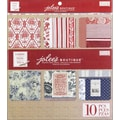 EK Success French General Adhesive Fabric Sheets 12in. x 12in.-10/Pkg