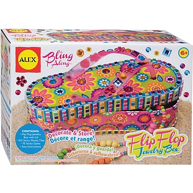 Alex Toys Bling Along Flip Flop Jewelry Box Kit