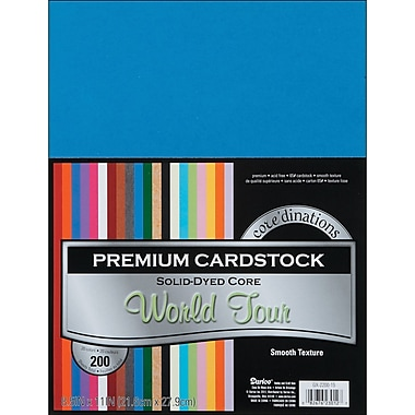 Darice Core'dinations Value Pack Cardstock, 8.5in. x 11in., World Tour