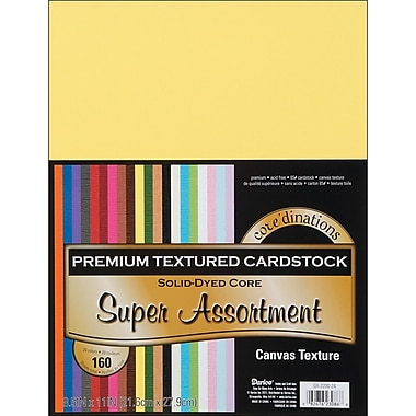 Darice Core'dinations Value Pack Cardstock, 8.5in. x 11in., Super Assortment