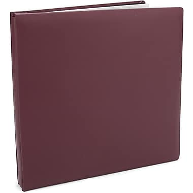 Pioneer Family Treasures Deluxe Fabric Postbound Album, 12in. x 12in., Rich Bordeaux
