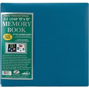 "Pioneer Family Treasures Deluxe Fabric Postbound Album, 12"" x 12"", Seabreeze Blue"