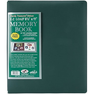 Pioneer Family Treasures Deluxe Fabric Postbound Album, 8.5in. x 11in., Sherwood Green
