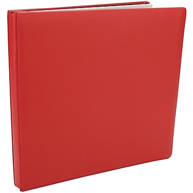 Pioneer Family Treasures Deluxe Fabric Postbound Album, 12in. x 12in., Red