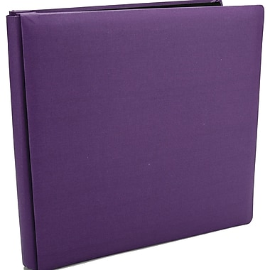 Pioneer Family Treasures Deluxe Fabric Postbound Album, 12in. x 12in., Purple