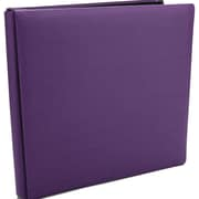 Pioneer Family Treasures Deluxe Fabric Postbound Album, 12 x 12, Purple