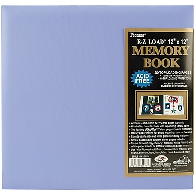 Pioneer Pastel Leatherette Postbound Album, 12in. x 12in., Lavender