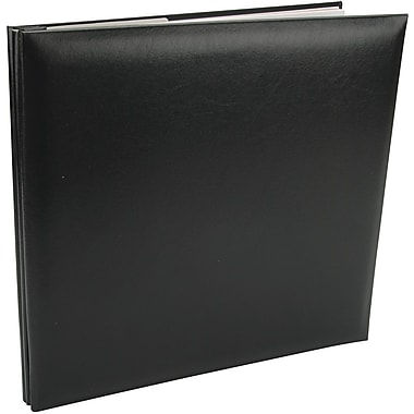 Pioneer Leatherette Postbound Album, 12in. x 12in., Black