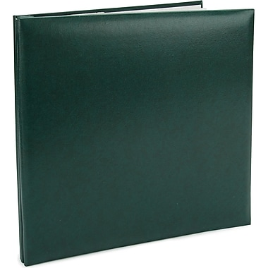 Pioneer Leatherette Postbound Album, 12in. x 12in., Green