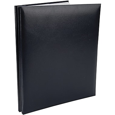 Pioneer Leatherette Postbound Album, 8.5in. x 11in., Navy Blue