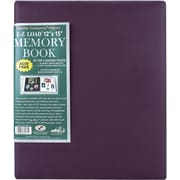Pioneer Family Treasures Deluxe Fabric Postbound Album, 12in. x 15in., Rich Bordeaux