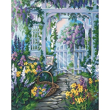 Dimensions Paint By Number Kit, 16in. x 20in., Garden Gate