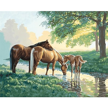 Dimensions Paint By Number Kit, 20in. x 16in., Horses By A Stream