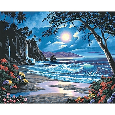 Dimensions Paint By Number Kit, 20in. x 16in., Moonlit Paradise