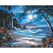 "Dimensions Paint By Number Craft Kit Painting, 20"" x 16"", Moonlit Paradise (91185)"