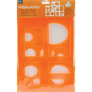 Fiskars ShapeTemplate Set, Circles, Ovals & Rectangles