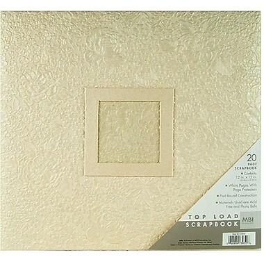 MBI Handmade Postbound Album, 12in. x 12in., Ivory Gardenia