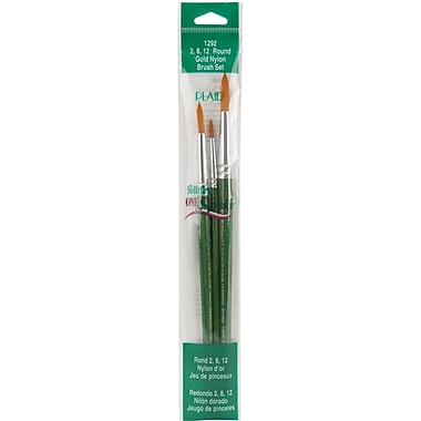 Plaid:Craft One Stroke Brush Set, Round #2, #8, #12