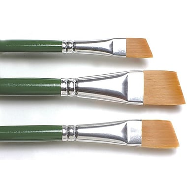 Plaid:Craft One Stroke Brush Set, Angle - 3/8in., 5/8in., 3/4in.
