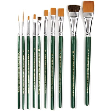 Plaid:Craft One Stroke Brush Set, 10/Pkg
