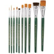 Plaid:Craft FolkArt One Stroke Brush Set, 10/Pack (1059)