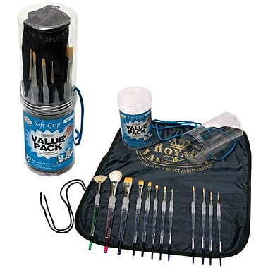 Royal Brush Soft-Grip Brush Value Pack, 12/Pkg