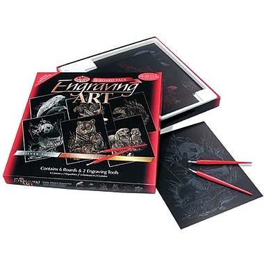 Royal Brush Foil Engraving Art Kit Value Pack, 8in. x 10in., Dolphins/Panda/Tiger/Mice/Pups/Otter