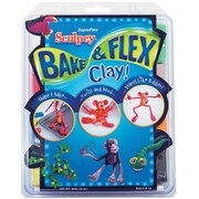 Polyform Sculpey Bake & Flex Clay, 2 Ounces, 8/Pkg, Assorted Colors
